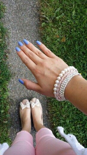 Blue nails!