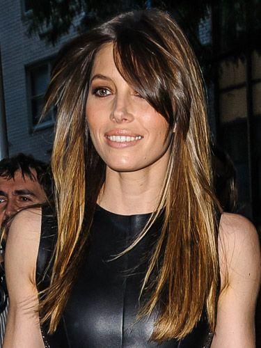 Jessica Biel fringe hairstyle ideas - celebrity hairstyles - Cosmopolitan.co.uk