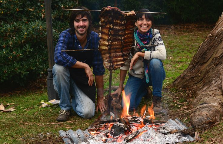 Typical & Traditional food from Argentina! Costillar al asador (BBQ Rack)