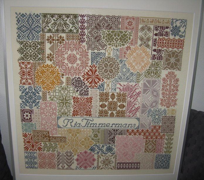 Cross Stitch A Long with Mijna: RiaT - Patchwork sampler - Jan Houtman: