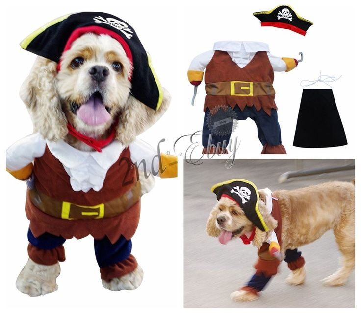 Pet Dog Cat Pirate Captain Halloween Gift Fancy Dress Costume Outfit Clothes S-L in Pet Supplies, Dog Supplies, Clothing & Shoes | eBay