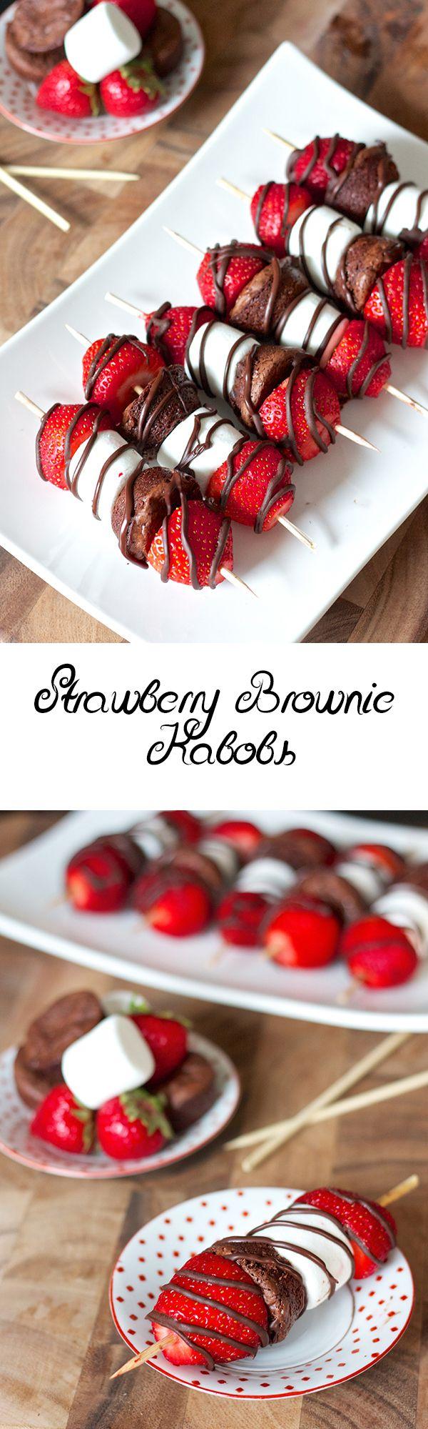 Strawberry Brownie Kabobs