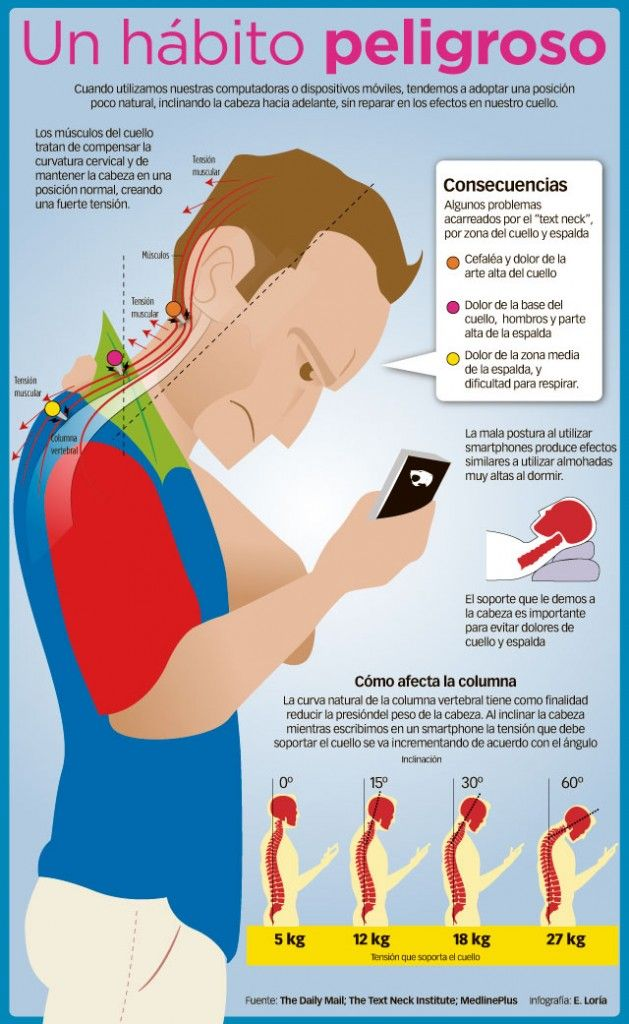 Daños en el cuello, consecuencias del celular