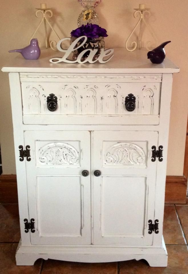 Old Charm Shabby Chic Cabinet Sideboard Stereo French