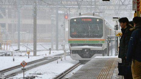 Japan snowfall disrupts air, rail and road transport