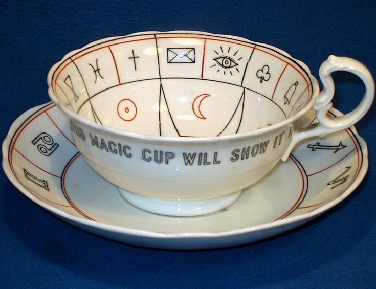THE NELROS CUP OF FORTUNE BY  AYNSLEY C. 1920 - FORTUNE-TELLING CUP AND SAUCER