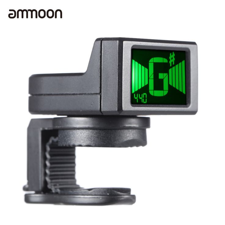 ammoon AT-08 Mini Digital Guitar Tuner LCD Clip-on Tuner for Acoustic Electric Guitar Bass Violin Ukulele Chromatic