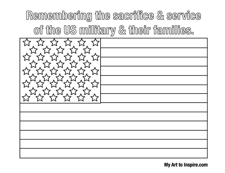 Flag Coloring Pages Preschoolers