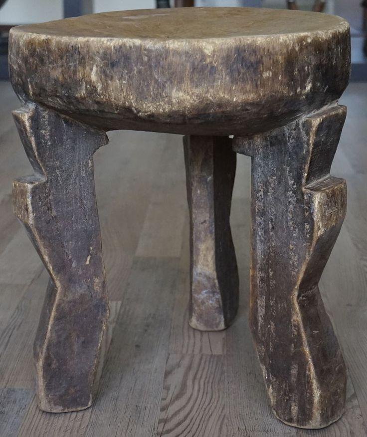 Rare African market  Chair Chokwe Lunda Zambia masterpiece wood  old vintage