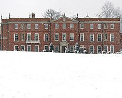 A Countryside Christmas at Four Seasons Hotel Hampshire, England-Manor House in the snow