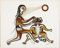 Nanabush Giving the Racoon its Colours, 1969 by Daphne Odjig