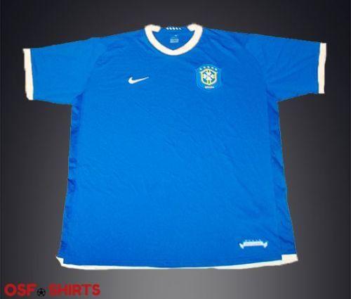 BRAZIL-Away-Football-SHIRT-2004-2005-Jesey-Trikot-Soccer-Maglia-Nike