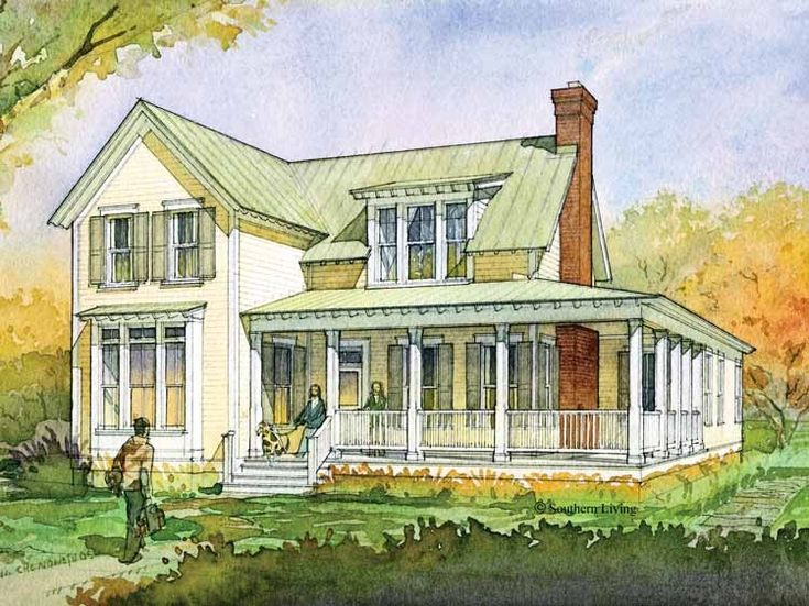 Eplans Farmhouse House Plan   Glenview Cottage From The Southern Living