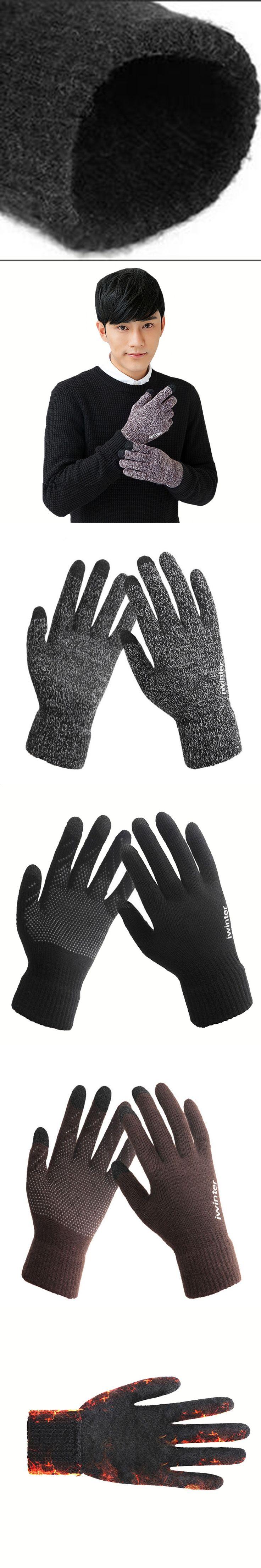 Non-slip Winter Gloves Wrist Black Touchscreen Mittens Skid Gloves Women Warm Men Thick Gym Gloves Top Quality