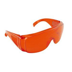 carejoy Rouge Masque lunettes de laboratoire dentaire de sécurité de protection Eye durcissement blanchissant léger