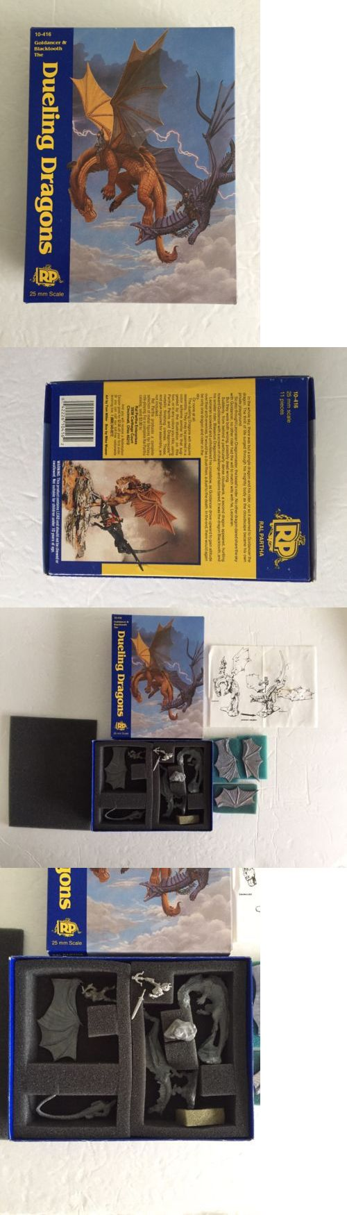 Ral Partha 16489: Ral Partha Dueling Dragons Metal Miniature Kit Goldancer And Blacktooth Adandd*Rare* -> BUY IT NOW ONLY: $85 on eBay!