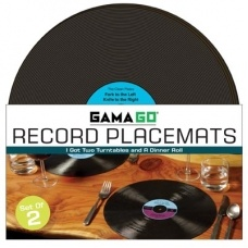 Record Placemats, set of 2 $24.95 - the perfect gift for music-lovers.