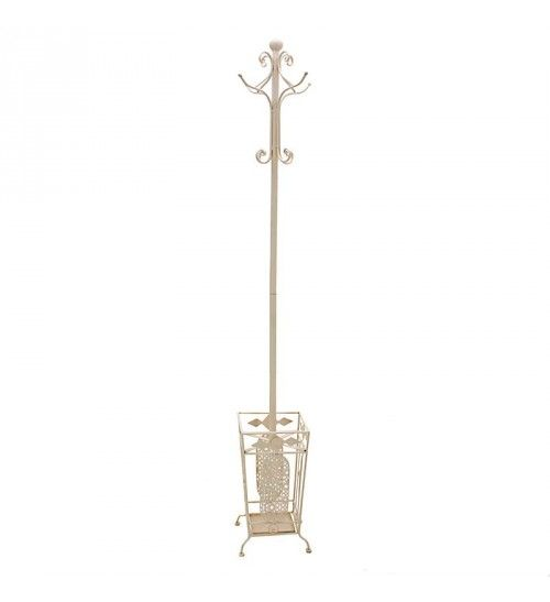 METAL COAT HANGER IN CREAM COLOR 28X28X184