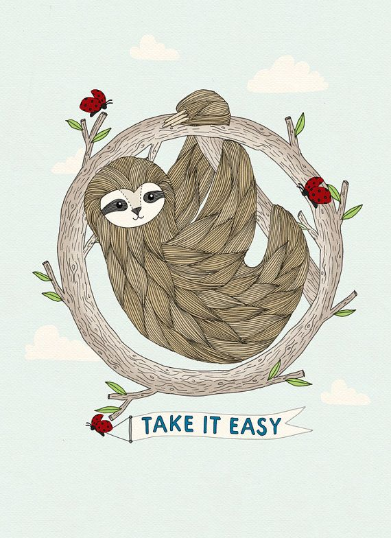 Alexis Winter on Etsy Sloth Print