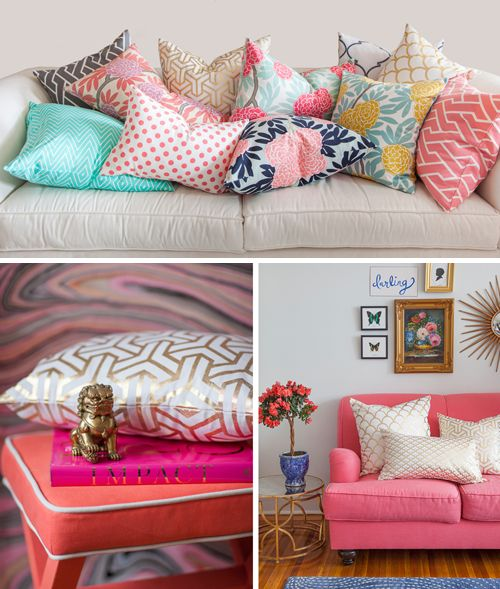 Gorgeous spring pillows and fabrics!