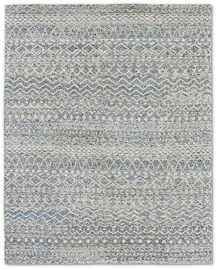 Zahira Moroccan Rug - Ivory/Blue   Restoration HW  6x9 $2695  8x10 $3995