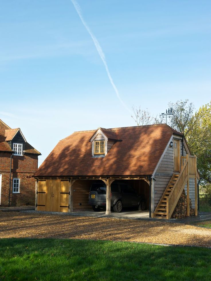 Garages with rooms above - Border Oak - oak framed houses, oak framed garages and structures.