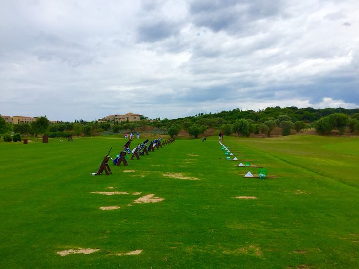 Costa Navarino golf range, Messina, Greece. Early June.