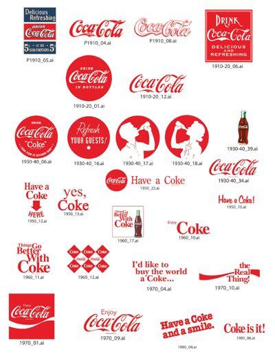コカ・コーラの歴代のロゴ                                                                                                                                                                                 もっと見る