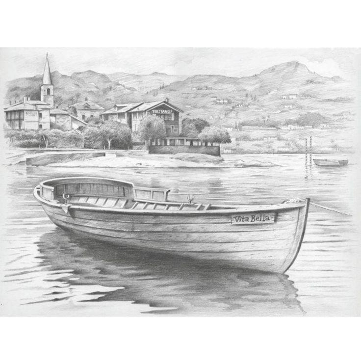Boot – Malen mit Bleistiften