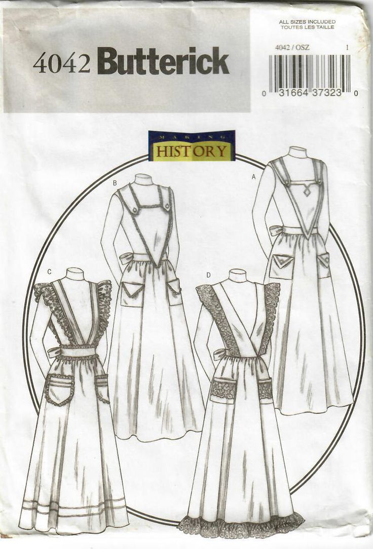 Downton Abbey perfect, in my #etsy shop: 2000s Butterick 4042 UNCUT Sewing Pattern Misses Historical Aprons, Victorian Aprons, Edwardian Aprons, Gibson Girl Aprons One Size http://etsy.me/2o8SbKF #supplies #sewing #missesapronpattern #historicalapron #edwardianapron