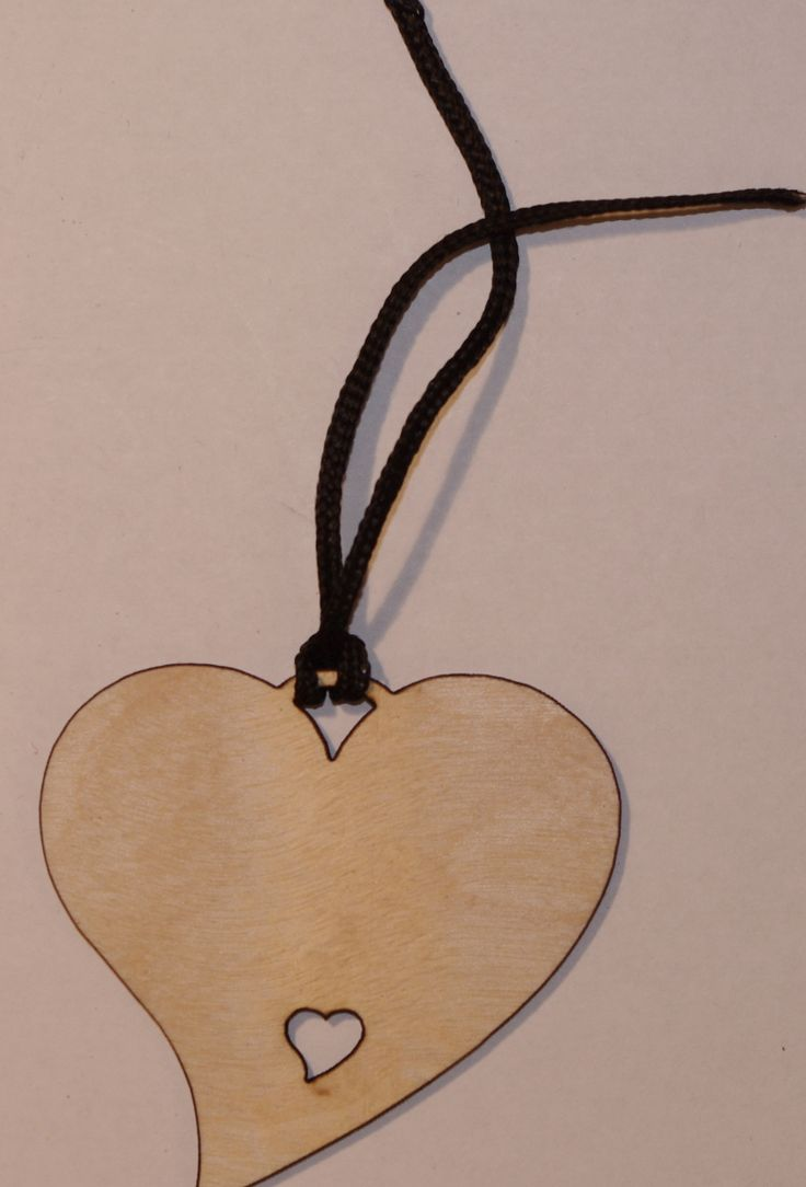 Heart Gift Tag with a cut out heart