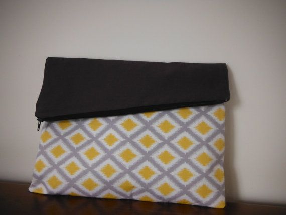 First time selling my handmade items. This is a simple foldover clutch, great for any occasion. If you love it repin or check it out on Etsy. Reverse colours also available https://www.etsy.com/listing/235279867/handmade-foldover-clutch
