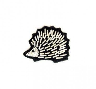 Broche brodée hérisson. El encanto del erizo :)
