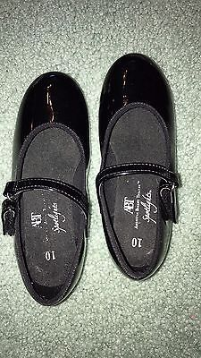 GIRLS ABT American Ballet Theater TAP DANCE BLACK PATENT SHOES SZ 10 SPOTLIGHTS  | eBay