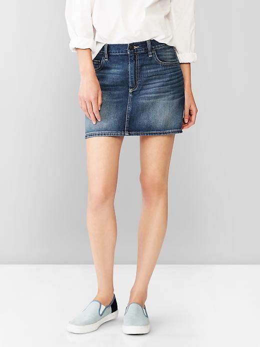 1969 denim mini skirt