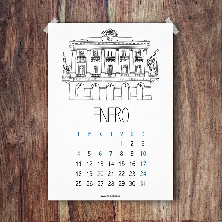 Calendario Enero 2016 descargable gratis