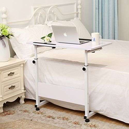 Height Adjustable Laptop Cart, Computer tabel, Student Study Table, Drafting Drawing Table Overbed Table Over Sofa Table