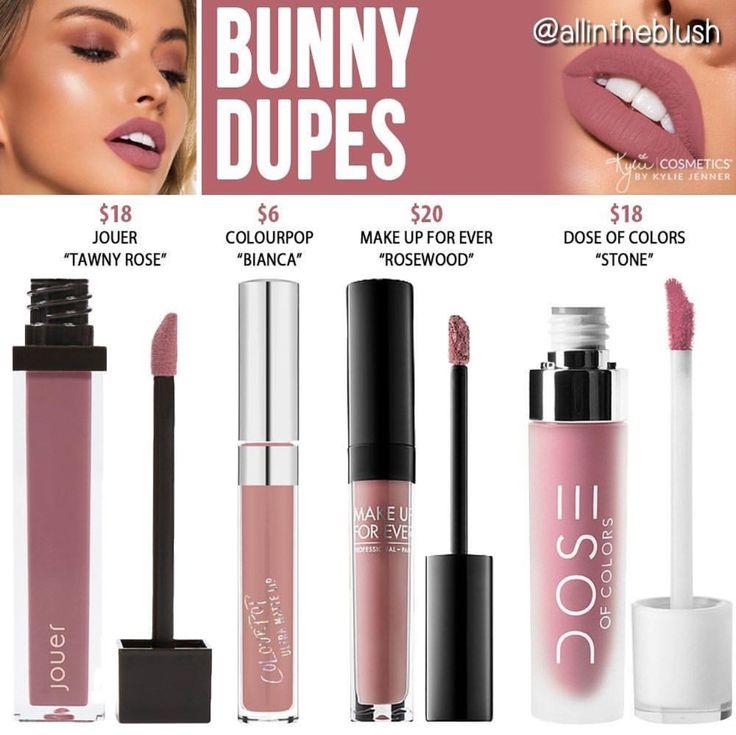 Kylie cosmetics liquid lipstick dupes in the shade Bunny // Kayy Dubb ♡