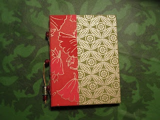 I used two different styles of paper for the cover; the spine is done with a pamphlet stitch.