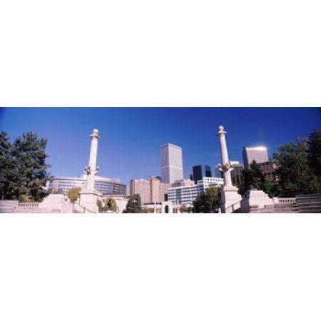 Buildings from Civic Center Park Denver Colorado USA Canvas Art - Panoramic Images (36 x 12)