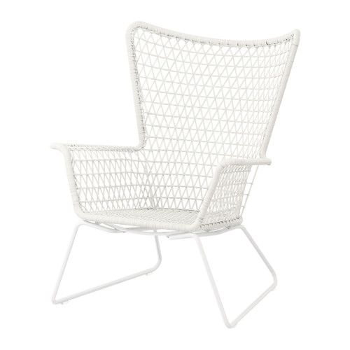 HÖGSTEN Armchair IKEA Hand woven plastic rattan offers the same look as natural rattan but is more durable for outdoor use.