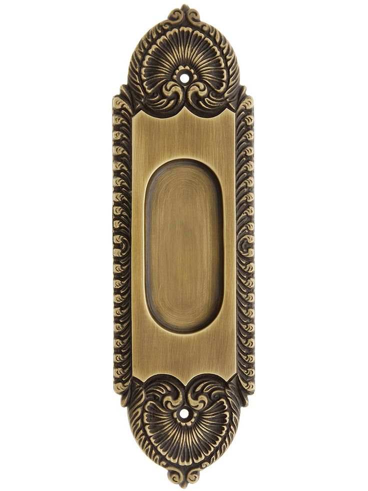 Stanwich Pattern Pocket Door Pull In Antique-By-Hand Finish | House of Antique