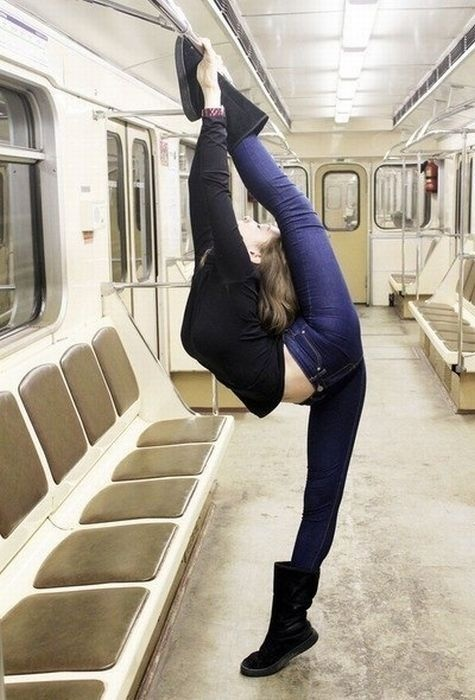 girl on a train.