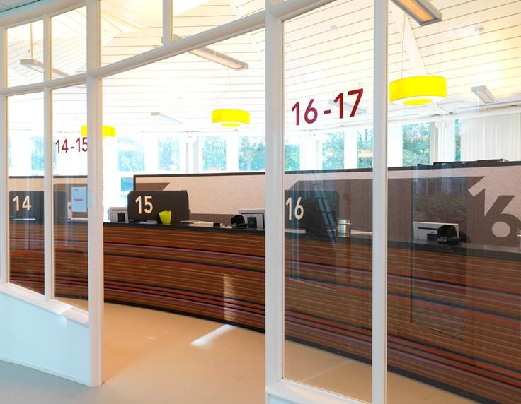 Entreebalie Tripolis, Amsterdam Stadsdeel Zuid / bewegwijzering / 2011 - Ontwerp door Cascade - visuele communicatie Amsterdam