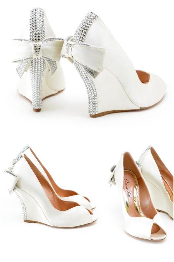 Best 25 Wedge Wedding Shoes Ideas On Pinterest