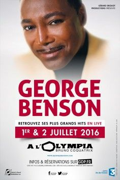 GEORGE BENSON, concerts Jazz- Blues – Classique, L'Olympia : Music Hall Paris