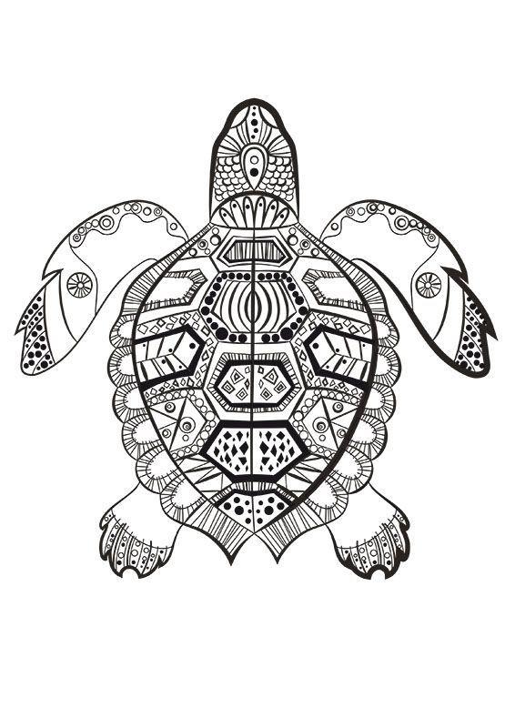 Image pour Coloriage Mandala Tortue À Imprimer Dr98 | Coloriage mandala animaux, Coloriage ...
