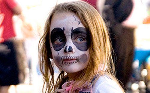 Trucco di Halloween per bambini: versione del teschio n.1