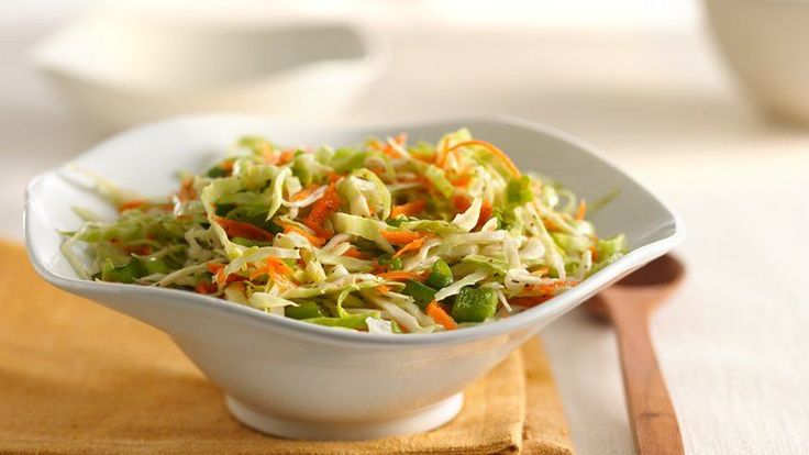 With a vinegar and sugar base, this tart but refreshing coleslaw is perfect for summer and packed with veggies.