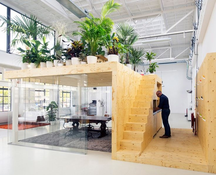 jvantspijker's renovated office includes a meeting room topped with an indoor garden